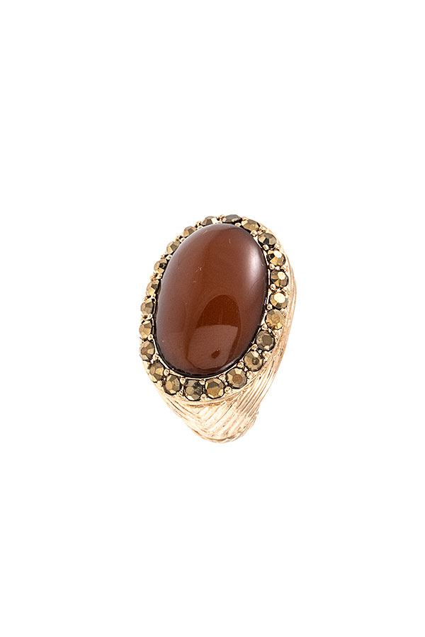 Oval Framed Stretch Ring - Creole Couture Boutique