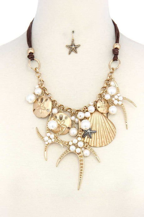 Sea Life Charm Chunky Necklace - Creole Couture Boutique