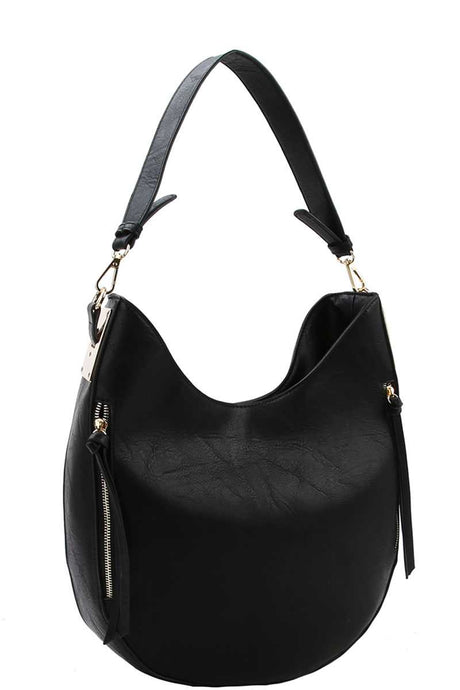 Fashion Chic Trendy Hobo Bag With Long Strap - Creole Couture Boutique