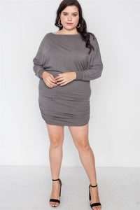 Batwing Basic Mini Dress - Creole Couture Boutique