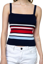 Stripe Sweater Cropped Top - Creole Couture Boutique