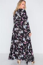 Floral Print Button Down Maxi Dress - Creole Couture Boutique