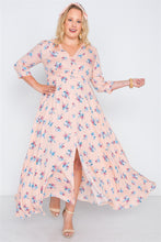 Floral Button Down Maxi Dress - Creole Couture Boutique