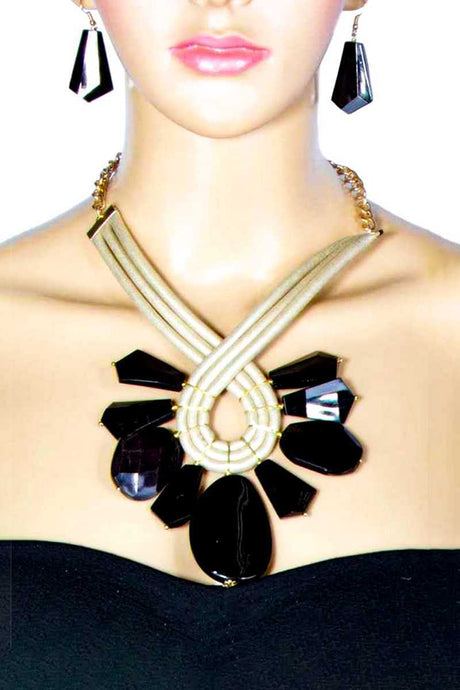 Milky Stone Necklace - Creole Couture Boutique
