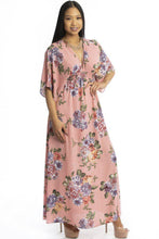 Floral Print Kimono Style Summer Dress - Creole Couture Boutique