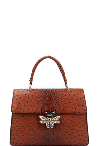 Stylish Insect Buckle Satchel With Matching Wallet - Creole Couture Boutique