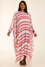 Multi Stripe Woven Cover Up - Creole Couture Boutique