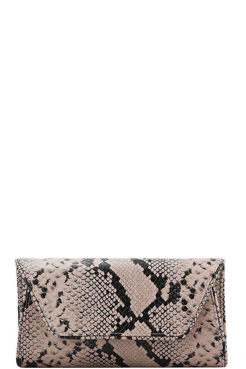 Cute Python Pattern Clutch Cross Body - Creole Couture Boutique