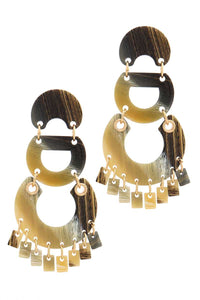 Geometric Shape Post Drop Earring - Creole Couture Boutique