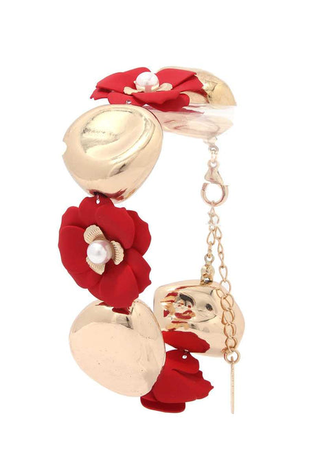 Flower Metal Bead Bracelet - Creole Couture Boutique