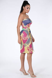 Side Slit Tube Dress - Creole Couture Boutique
