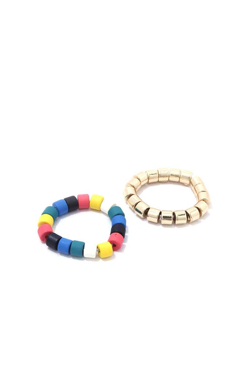 Multi Color Stretch Ring Set - Creole Couture Boutique