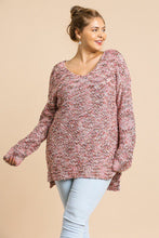 Multicolor Long Sleeve V-neck Soft Tunic Sweater - Creole Couture Boutique