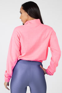 Cropped Half Zip Pullover - Creole Couture Boutique