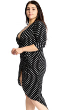 Polka Dots Chiffon Wrap Dress - Creole Couture Boutique