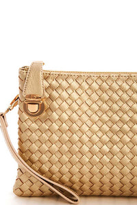 Fashion Cute Trendy Woven Clutch Crossbody Bag With Two Straps - Creole Couture Boutique