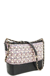 Fashion Multi Pearl Modern Crossbody Bag - Creole Couture Boutique