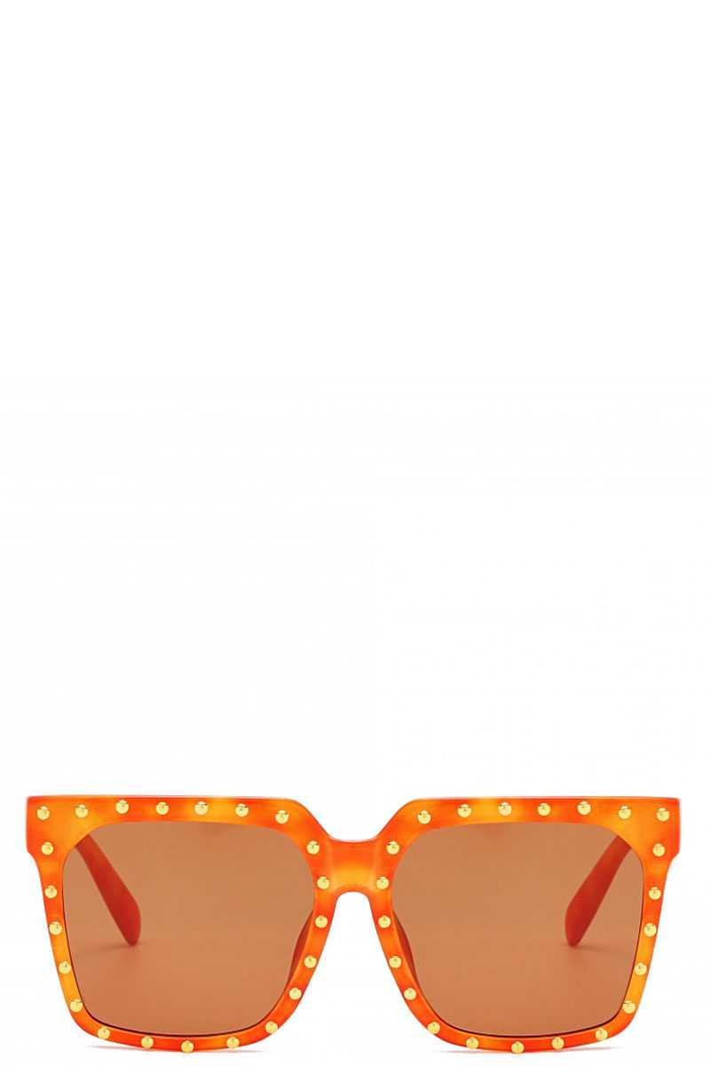 Designer Studded Poly Carbonate Sunglasses - Creole Couture Boutique