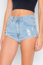 Raw Distressed Denim Short Shorts - Creole Couture Boutique