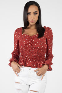 Floral Sweetheart Ruffle Top - Creole Couture Boutique