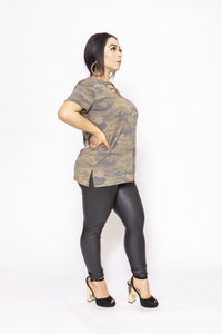 Camouflages And Solid Dress/top - Creole Couture Boutique