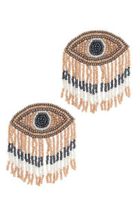 Stylish Evil Eye Drop Fringe Earring - Creole Couture Boutique