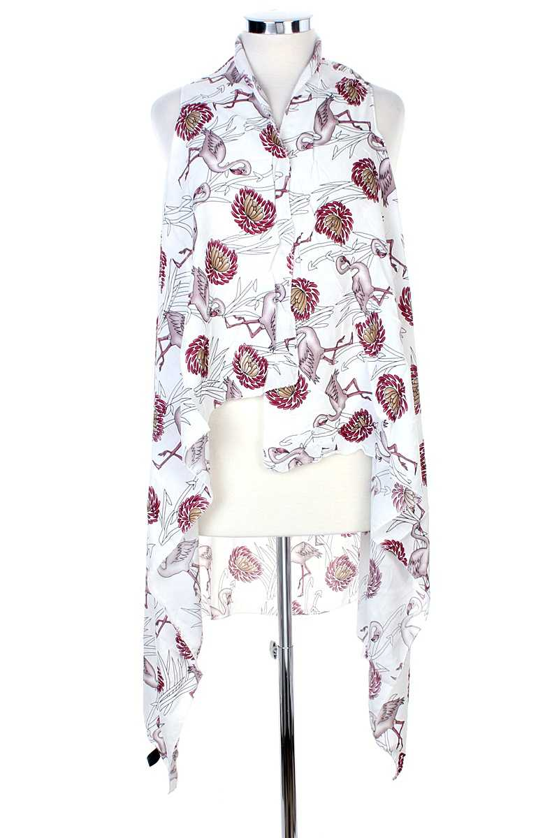 Draped Flamingo Printed Vest - Creole Couture Boutique