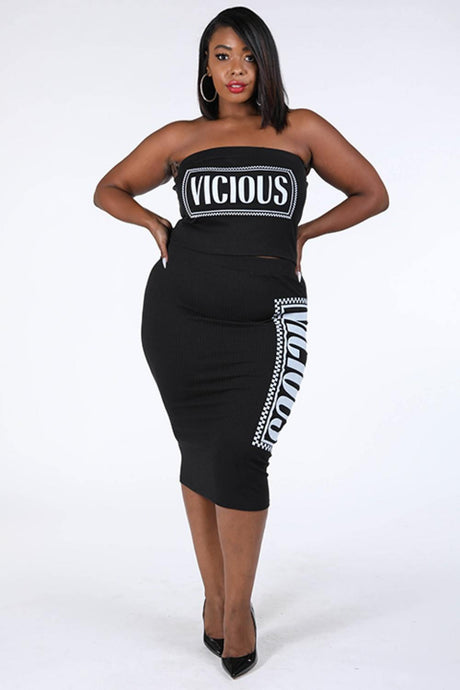 Viccious Printed Skirt Set - Creole Couture Boutique