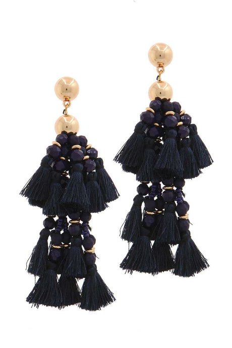 Designer Tassel Drop Earring - Creole Couture Boutique