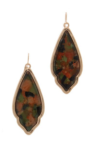 Moroccan Shape Drop Earring - Creole Couture Boutique
