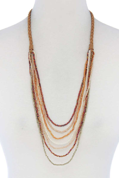 Beaded Multi Layer Necklace - Creole Couture Boutique
