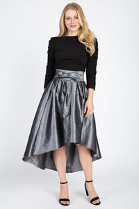 Taffeta Aristocrat High-low Skirt - Creole Couture Boutique