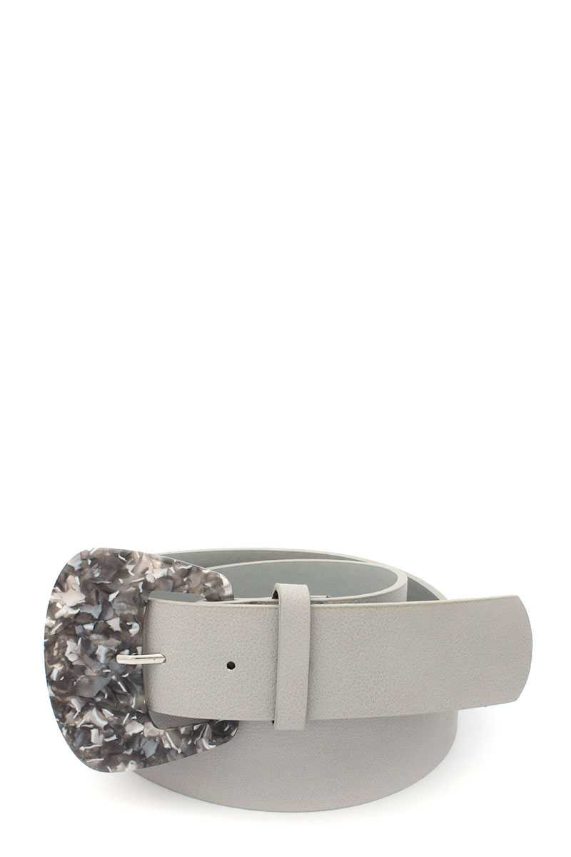 Aceate Buckle Pu Leather Belt - Creole Couture Boutique