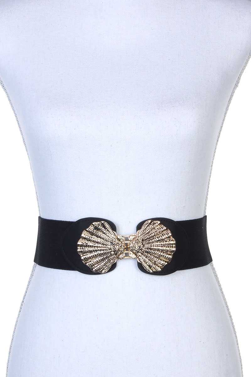 Metal Buckle Stretch Belt - Creole Couture Boutique