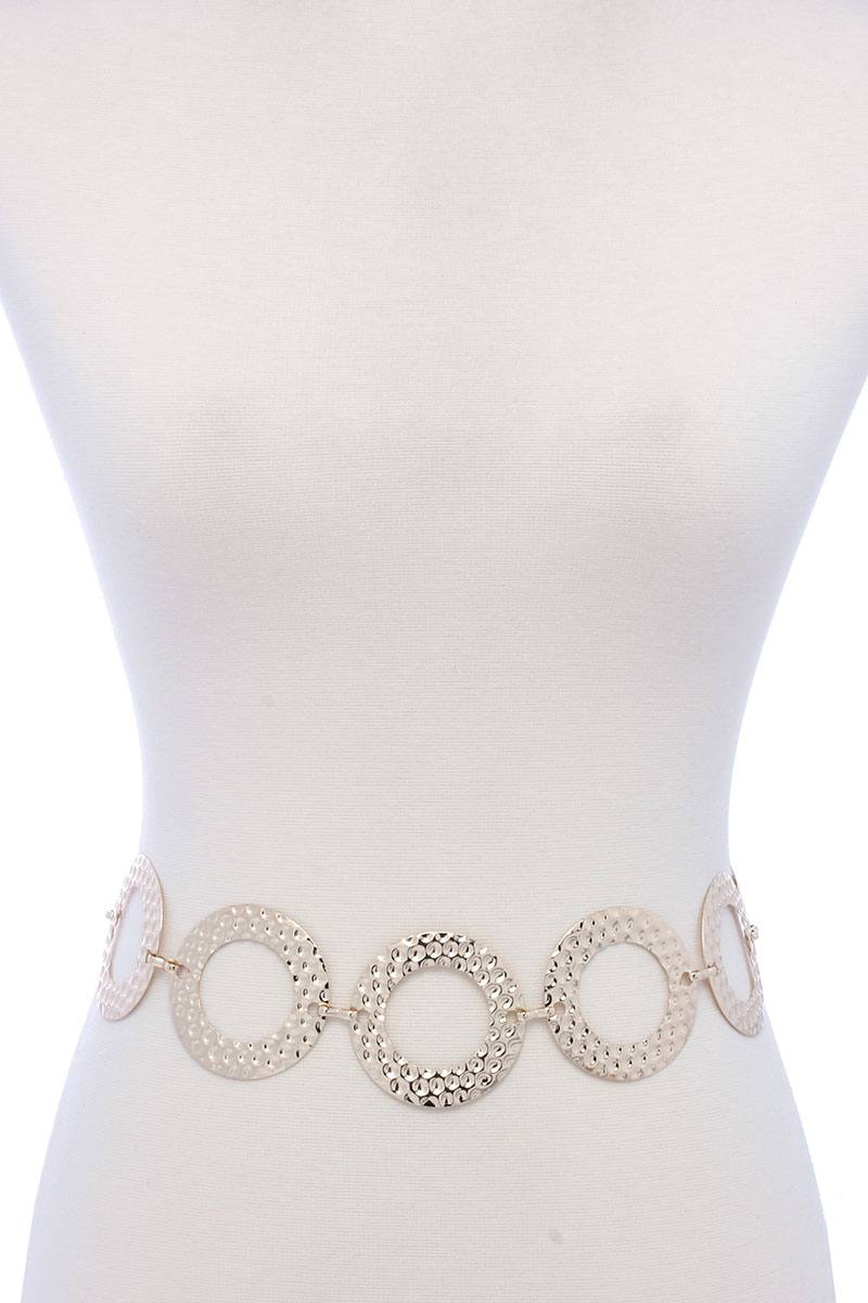 Circle Linked Metal Belt - Creole Couture Boutique
