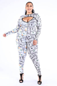 New Money Old Money Catsuit - Creole Couture Boutique