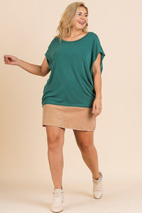 Short Dolman Sleeve Scoop Neck Top - Creole Couture Boutique
