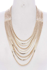 Layer Metal Necklace - Creole Couture Boutique