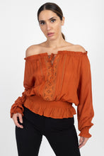 Off Shoulder Embroidered Shirt - Creole Couture Boutique