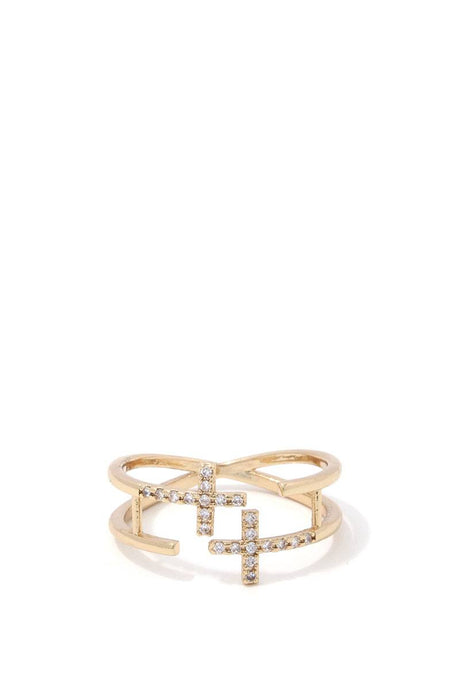 Double Cross Ring - Creole Couture Boutique
