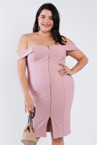 Plus Size  Front Zip Dress - Creole Couture Boutique