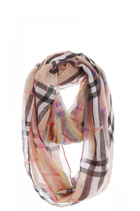 Fashion Rainbow Modern Check Infinity Scarf - Creole Couture Boutique
