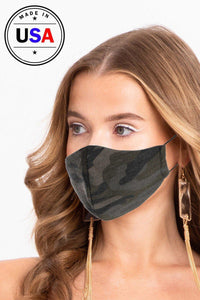 Camouflage 3d Reusable Face Mask - Creole Couture Boutique