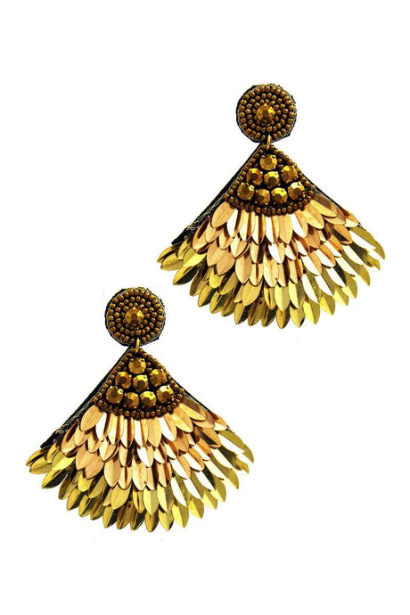 Goddess Feather Earrings - Creole Couture Boutique