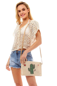 Flossy Cactus And Sun Bag - Creole Couture Boutique
