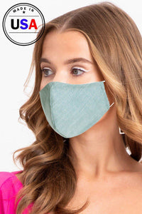 Riveting Aqua, Reusable Face Mask - Creole Couture Boutique