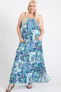 Summer Skies Maxi Dress - Creole Couture Boutique