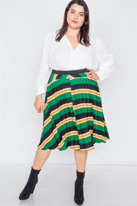 It's A Vibe Midi Skirt - Creole Couture Boutique
