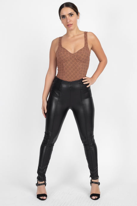 Fauxology High Waist Leather Pants - Creole Couture Boutique