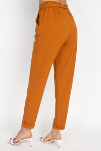 Boss Lady Self Tie Pants - Creole Couture Boutique